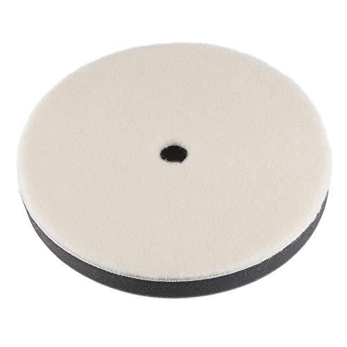 uxcell - Almohadilla de fieltro de lana de 7 pulgadas para pulir, con agujero de pulido fino para coche