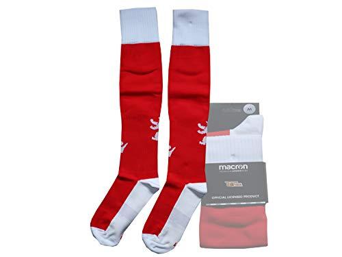 Macron 1.FC Union Berlin Fußball Socken rot weiß FCU Home Sock Fan Stutzen, Größe:3 (40-42)