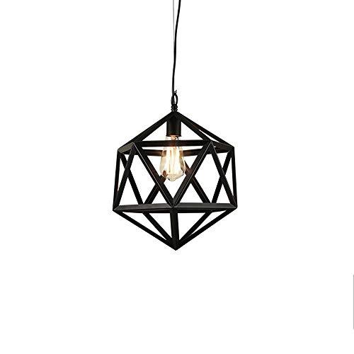 HNaGRDMMP Retro Industrie Wind Kronleuchter Schmiedeeisen Lampen personalisierte Art Design kreative Vogelkäfig Lampenschirm Bar (Size : 35cm)