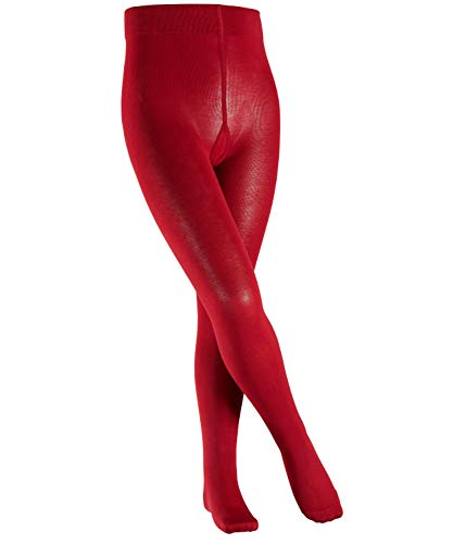FALKE Kinder Cotton Touch Strumpfhose, Baumwollmischung, Sehr weiches Hautgefühl, Ideal Passform durch Elasthananteil, Allrounder, 1 Stück, rot (berry 8106), 134-146 cm