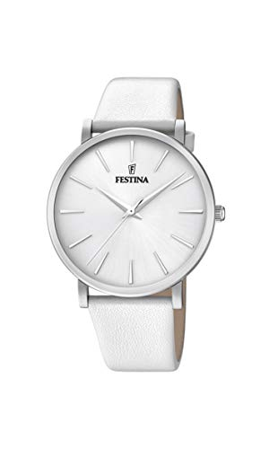 Festina Damen Analog Quarz Uhr mit Leder Armband F20371/1