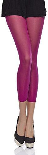 Merry Style Damen Mikrofaser Leggings 40 DEN MSSS006 (Azalee, M (36-40))