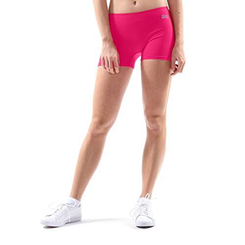Sportkind Mädchen & Damen Kurze Sport Shorts, Turnhose, Gymnastikhose, Laufshorts, atmungsaktiv, pink, Gr. 164