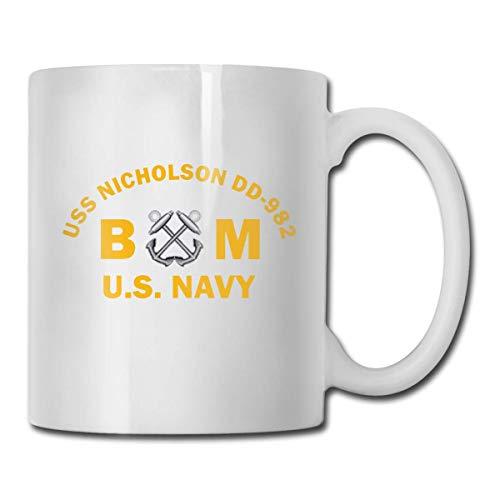 N\A US Army Cold War Suboficial 3 Taza de café Divertida de cerámica Ultra Blanca Taza Corta Taza de Marca Taza de café única de oz