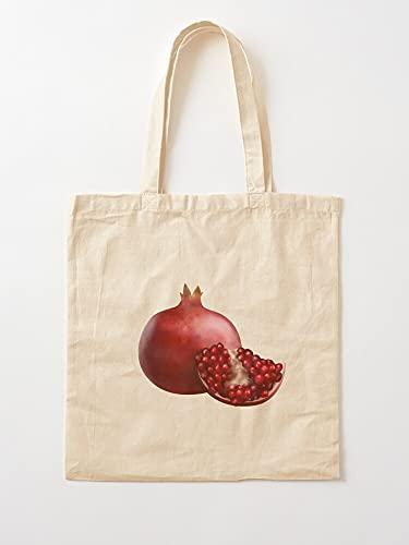 Realistic Selling Best Fruit Pomegranate Frutti Now Cut Trending Delicious | Borse per la spesa in tela con manici in cotone resistente