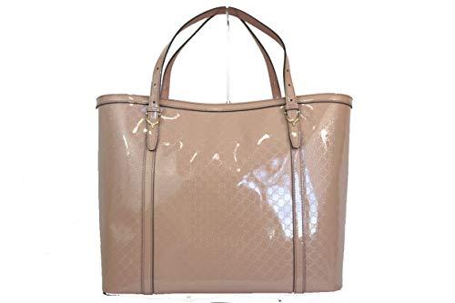 Gucci Nice Microguccissima 309613av12g Cipria Patent Leather Tote
