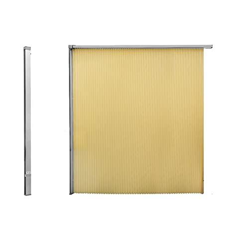MYXE Cortina de Ducha Invisible a Prueba de Moho, mampara de Ducha Enrollable retráctil, con Marco de Metal, Cortinas de baño, Cortinas de Ducha Lavables, baño, 150x150cm