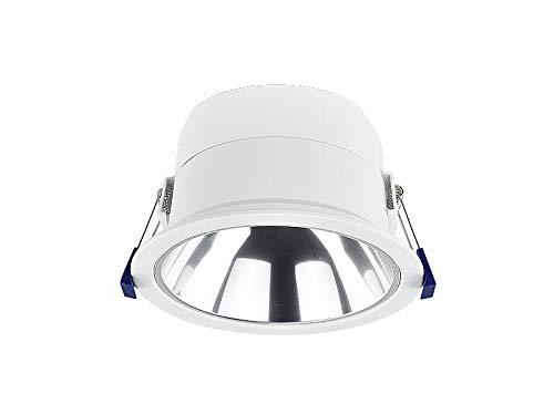 BAP vorverdrahtet f/ür LED R/öhren LM 18W 6400K Rasteranbauleuchte mit Doppelparabolraster 1200mm 1-fl LED Rasterleuchte inkl