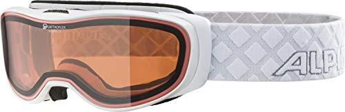 ALPINA BONFIRE 2.0 QH Skibrille, Unisex– Erwachsene, white, one size