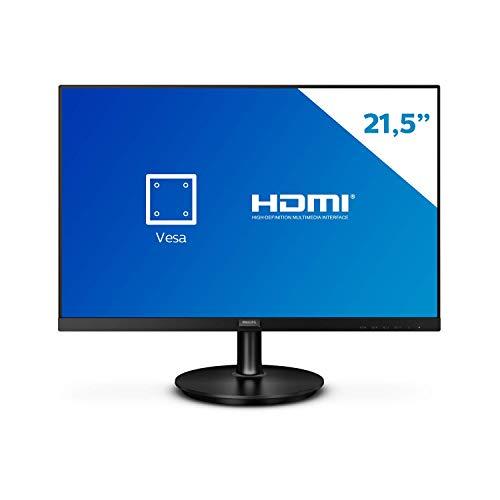 "Monitor Philips 21.5"" LED WVA HDMI Bordas Ultrafinas 221V8A"