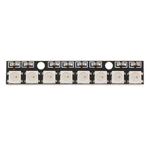 harayaa Placa de Desarrollo Impulsada a Todo Color con Luces LED RGB WS2812 5050 de 8 Canales