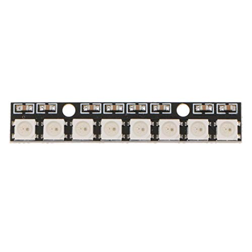 8 Channel WS2812 5050 RGB 8 LEDs Lamp Panel Light Strip Driver Board for Arduino, 58x11mm