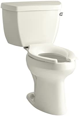 Kohler Highline Classic Pressure Lite Comfort Height Elongated 1.4 gpf Toilet with Right-Hand Trip Lever Less Seat