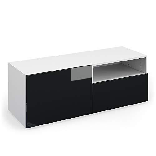 Vicco TV Lowboard Compo Sideboard Fernsehtisch Kommode Schrank (weiß/anthrazit Hochglanz)