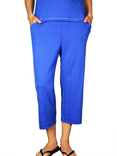 Chill Angel Merino Lounger Crop Pant Blue Jay L