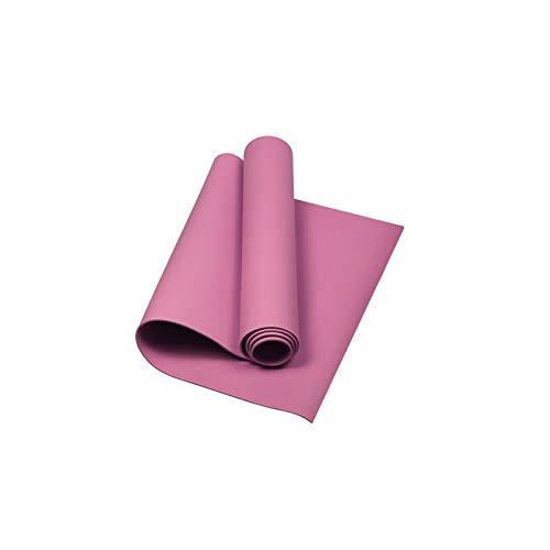 Hansensi - Esterilla de yoga acolchada, antideslizante, sin sustancias nocivas, 173 x 61 x 0,4 cm, color rosa