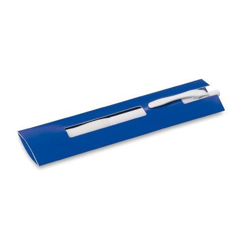 DISOK - Lote 10 Fundas Bolígrafo Cartón Azul