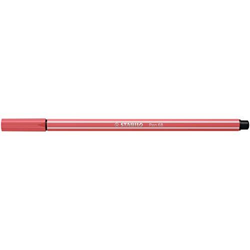STABILO Pluma 68 punta de fibra, rojo óxido