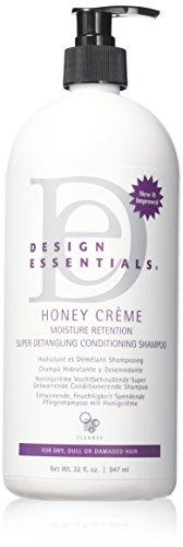 Design Essentials Honey Creme Moisture Retention Super Detangling Conditioning Shampoo, 32 Ounces