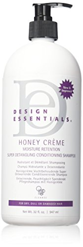 Design Essentials Honey Creme Moisture Retention Super Detangling Conditioning Shampoo, 32 Fl Oz