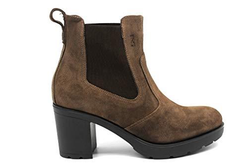 NG A807060D zwart en mol laarzen Ankle Vrouw met Plateau