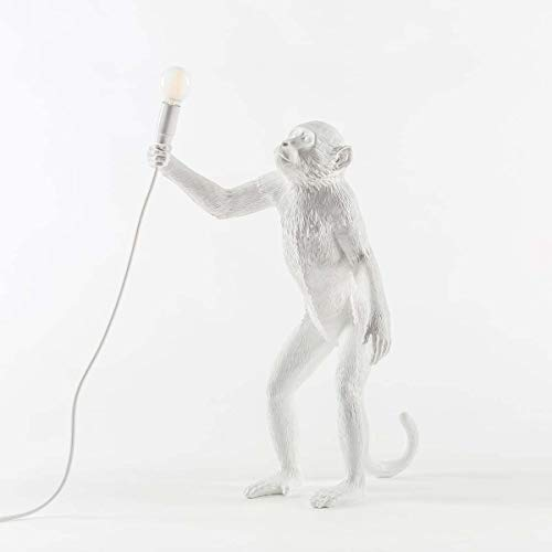 SELETTI Primate Verlichting Aap Lamp Staand, Wit