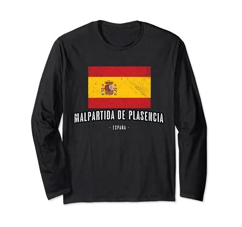 Malpartida de Plasencia España   Souvenir Ciudad - Bandera - Manga Larga