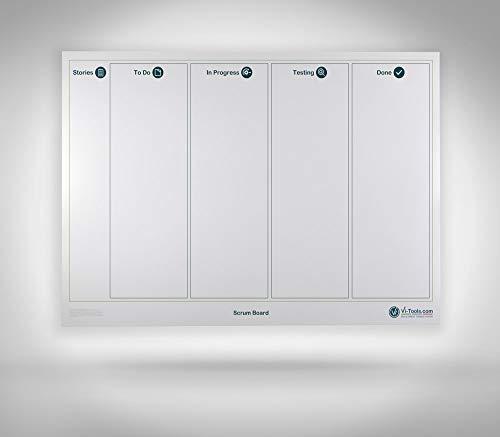 Vi-Board Scrum Board/ Whiteboard: Enrollable