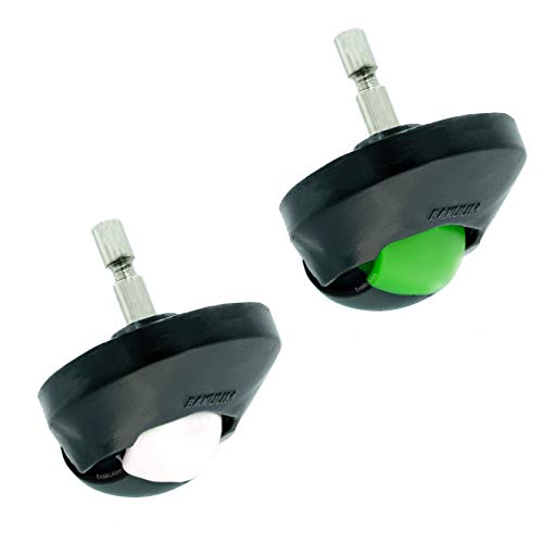 Pack Verde x2 Ruedas Delanteras para Roomba Series 500 600 700 800 900 e5 i7. Repuesto para Robots aspiradores. Reemplazo Compatible.