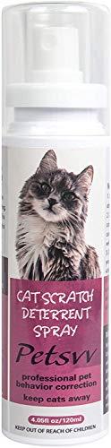 Petsvv Anti Kratz Spray für Katzen, Katzen Kratzschutz Spray, Kratzschutz für Katze und Hund,120 ml