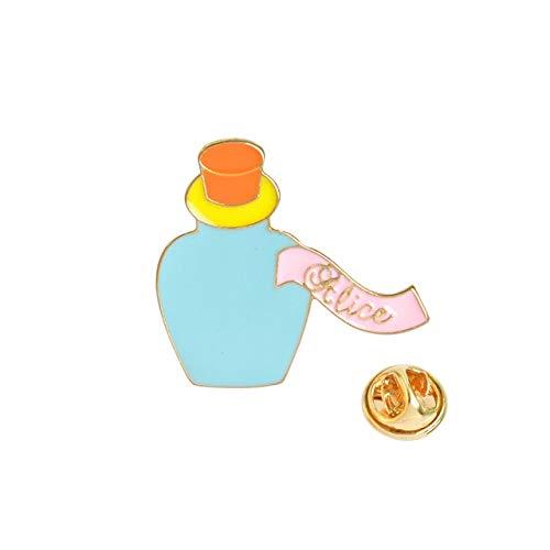 1 Uds.Pines de cuento de hadas de dibujos animados reloj despertador de conejo gato pastel sombrero tetera candelabro corona Castillo broche chaqueta Collar insignia