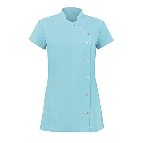Alexandra - Túnica uniforme para salón de belleza / spa de cuidado fácil para mujer (42/Verde azulado)