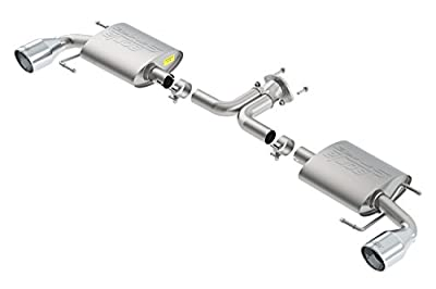 BORLA 11918 Exhaust Complete System (14-16 Mazda 3 2.0L/2.5L At/Mt Fwd 4+5 Dr 2In S-Type S Rd Rl Ac Sr 4In Rd X 7.0In)