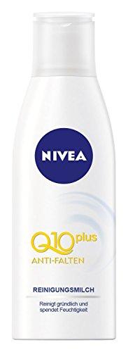 Nivea Anti-Falten Reinigungsmilch mit Q10, 4er Pack (4 x 200 ml)