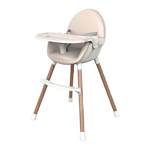 Holz Baby-Hochstuhl, Multi-Funktions-Dining Chair Mit Verstellbaren Füßen Und Fach, Leicht Zu Reinigen, Sicher, Stabil (Color : C)