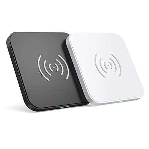 CHOETECH Wireless Charger (2 Pack),10W Max Qi-Certified Fast Wireless Charging Pad Compatible with iPhone 11/11 Pro/11 Pro Max/XS Max/XS/X/8, Samsung Galaxy Note 10/Note 10 Plus/S10/S10+, AirPods Pro