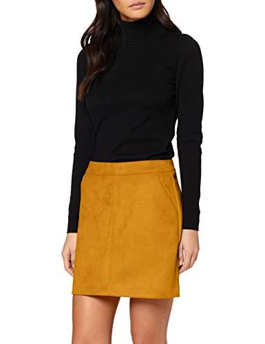 VERO MODA Damen VMDONNADINA Faux Suede Short Skirt COL Rock, Buckthorn Brown, XS