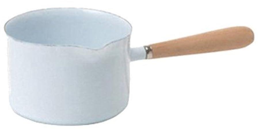 我慢する言語コンピューターPL ホーロー 片手鍋 ミルクパン ホワイト 680