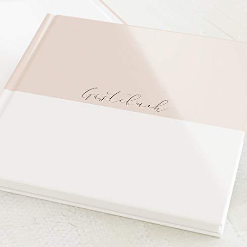 sendmoments Gästebuch, zum Auslegen und Eintragen, Pastell-Farbe, Buch mit blanko Innenseiten,...