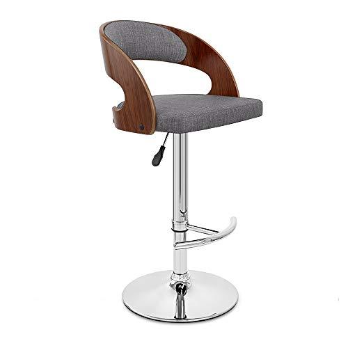 L-H-X Tabouret de Bar Hauteur 58-80cm Réglage de l'ascenseur Bar Chaise Chaise À Dos Rotatif Cuisine Petit Dejeuner Cuisine L++
