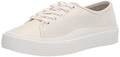 Dolce Vita Women's Valor Sneaker, White Embossed Leather, 9