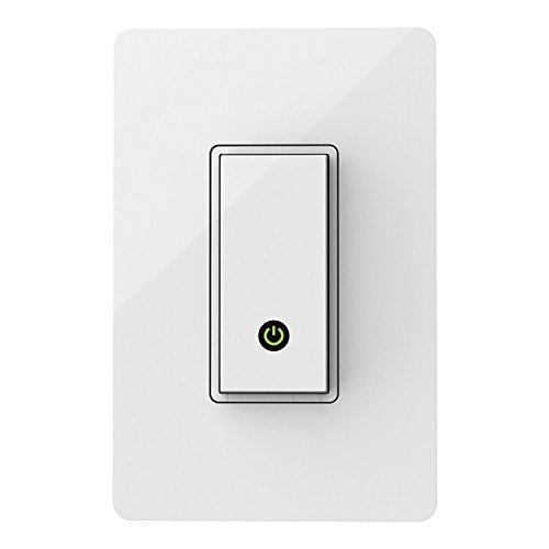 Wemo Light Switch, Wi-Fi enabled, Compatible with Alexa and Google Assistant (Renewed) (F7C030)