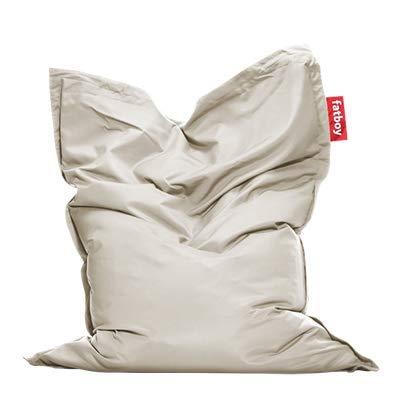 Fatboy® Original Outdoor lichtgrau Acryl-Gewebe Sitzsack | Klassischer Beanbag für draußen, Sitzkissen | 180 x 140 cm