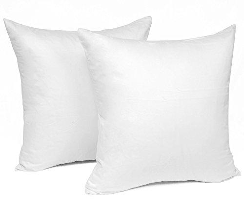 WOLTU® KB5152wsQ2, 2X Kissenbezug Kissenhülle 100% Baumwolle mit Reissverschluss, 2er Set Sofakissen Dekokissen Kissen Bezug, Kopfkissen Hülle Bezüge Doppelpack, 45x45 cm, Weiß