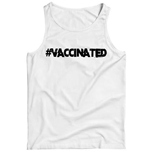 lepni.me Camisetas de Tirantes para Hombre Vacunados Seguridad Pública Cuarentena Acabada Ciencia Humor (3XL Blanco Multicolor)