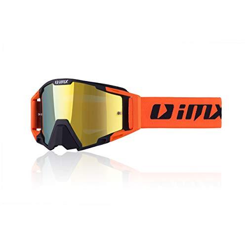 Goggles IMX SAND MX MTB Visier Iridium + Klar Brille Doppelverglasungsband mit Silikondruck drei Schichten Schaum zwei Visier Set Motocross Enduro MTB Downhill Freeeride