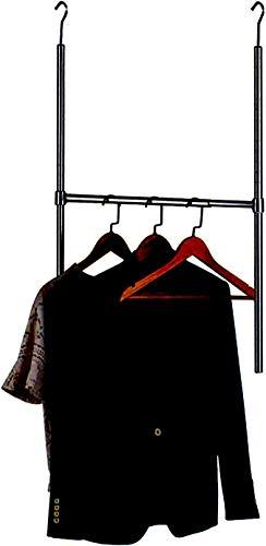 Auledio Adjustable Durable Closet Hanger Rod Over The Door Clothes Garment Organizer Rack