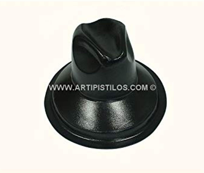 Artipistilos Moule à Chapeau Pour Feutre Modele L.untouch Taille Xl - Altura  18 Cms. Diamètre. 36 X 33 Cms, Noir - Moule à Chapeaux Pour Feutre