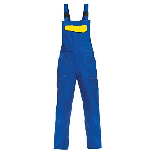 BWOLF ARES 100% Baumwolle Latzhose Herren Arbeitshose Schutz-Latzhose Arbeits-Latzhose (Königsblau, 2XL)