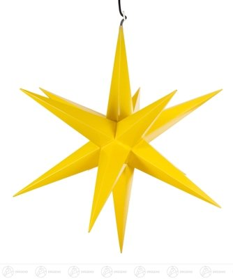 Raumschmuck Haßlauer Weihnachtsstern für außen gelb, elektr. Beleuchtung Breite x Höhe x Tiefe 75 cmx75 cmx75 cm NEU Erzgebirge Leuchtstern Weihnachtsstern